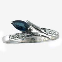Aaditya Diamonds Sterling Silver Diamond Ring