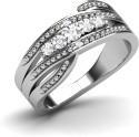 CaratLane Zephyra Silver Diamond Ring - RNGDTXYW84ZG6PAX