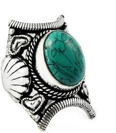 Miska Silver Designer Alloy Turquoise Ring