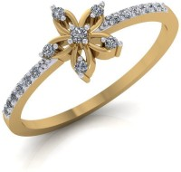 Gehnabox The Floral Cluster Gold Diamond 18 K Ring