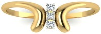 Astrum Diamonds The Butterfly Ring Yellow Gold Diamond 18 K Ring
