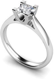Alluring Silver Swarovski Crystal Platinum Ring