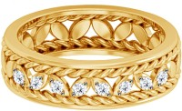 JacknJewel Antique Elegant Yellow Gold Diamond 18K Yellow Gold Plated 18 K Ring