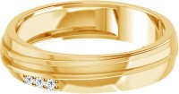 Jacknjewel Jacknjewel 18kt Yellow Gold Plated Silver 0.06 Carat Certified Diamond Designer Band Silver Diamond Yellow Gold Plated Ring