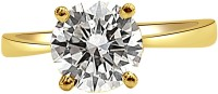 Surat Diamond 0.60ct Round K/VS2 Engagement Delight Yellow Gold Diamond Yellow Gold 18 K Ring