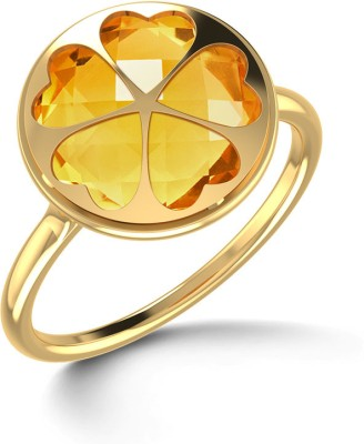 CaratLane Citrine Elite Gold Citrine Ring