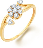 Karatcraft Camellia Yellow Gold Diamond 18 K Ring