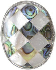 Taj Pearl Designer Shell Alloy Ring