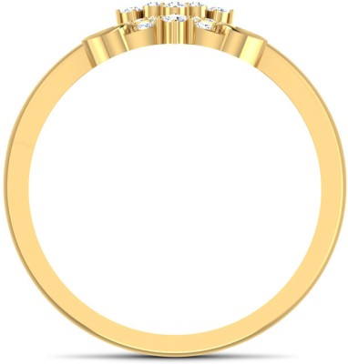 CaratLane Sassy X Gold Diamond Ring