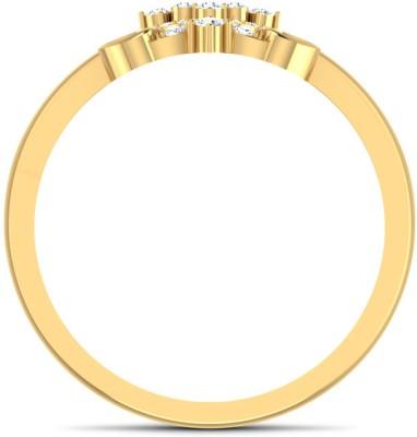 CaratLane Sassy X Gold Diamond Ring