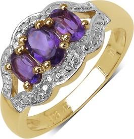 Johareez Sterling Silver Amethyst Sterling Silver Ring