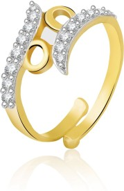 Jewelscart.in Jewelscart.In Adjustable Diamonds Gold Plated Finger Ring JC01000737 Brass Brass Ring