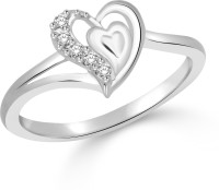 Classic Innocent Love Rhodium Plated Ring For Women Size12 [CJ1054FRR12] Alloy Cubic Zirconia White Gold 18 K Ring