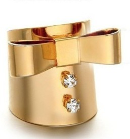 Brandmeup Bow Finger Cuff Alloy Ring