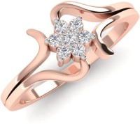 Caratify Mirila Rose Gold Diamond 14K Rose Gold Plated 14 K Ring