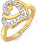 BlueStone The Entwined In Love Yellow Gold Diamond 18 K Ring