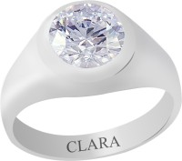Clara Certified 7.5 Cts Or 8.25 Ratti Bold Sterling Silver Zircon Ring