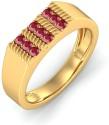 BlueStone The Royal Audacious Yellow Gold Ruby Ring