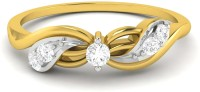 Ciemme 0.17 Ct. Promise Of Forever Love Ladies Sterling Silver Cubic Zirconia 18K Yellow Gold Ring - RNGEC9RE7TFVZ6XC