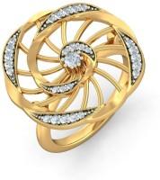 BlueStone The Flowerina Yellow Gold Diamond 14 K Ring