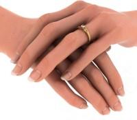 BlueStone The Iksha Yellow Gold Diamond 14 K Ring