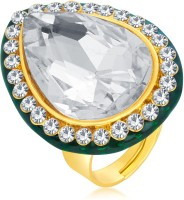 Sukkhi Fabulous Designer Traditional Cocktail Gold Plated American Diamond Alloy 18K Yellow Gold Ring