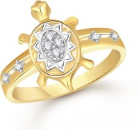 VK Jewels Decent Design Alloy Cubic Zirconia Yellow Gold Ring