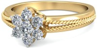 WearYourShine By PCJ The Isa Floral Diamond Gold Diamond 18K Yellow Gold 18 K Ring