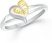 VK Jewels Leaf Heart Alloy 18K Yellow Gold Ring