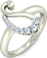 BlueStone The Enchanting Paisley White Gold Diamond 14 K Ring