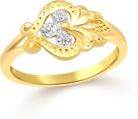 Classic Design Plain Gold Plated Ring For Women Size14 [CJ1088FRG14] Alloy Cubic Zirconia Yellow Gold 18 K Ring
