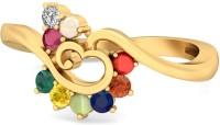 WearYourShine By PCJ The Izhaiyini Gold Diamond, Ruby, Emerald, Sapphire, Coral, Garnet, Cat's Eye 18 K Ring