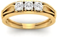 Jewels5 Elica Gold Diamond 18 K Ring