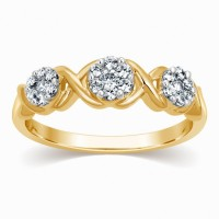 Kama Jewellery Ring Yellow Gold Diamond 18K Yellow Gold 18 K Ring