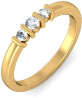 BlueStone The Parnella Trinity Yellow Gold Diamond 14 K Ring