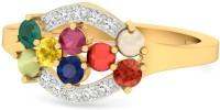 WearYourShine By PCJ The Almeta Gold Diamond, Ruby, Emerald, Sapphire, Coral, Garnet, Cat's Eye 18 K Ring