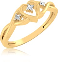 IskiUski Hearts Gold Yellow Gold Plated 14 K Ring