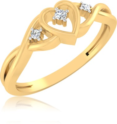 IskiUski Hearts Gold Yellow Gold Plated 14 K Ring