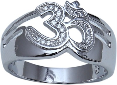 Lovable Aman Lovable Sterling Silver NA Silver Plated  K Ring (White)