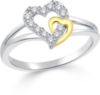 Classic Couple Gold & Rhodium Plated Ring For Women Size11 [CJ1032FRRG11] Alloy Cubic Zirconia White Gold 18 K Ring