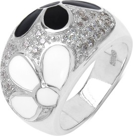 Johareez Sterling Silver Cubic Zirconia Sterling Silver Ring