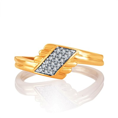 Karatcraft Bejewelled Gold Yellow Gold Diamond 18 K Ring