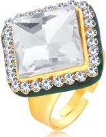 Sukkhi Eye-Catchy Designer Traditional Cocktail Gold Plated American Diamond Alloy 18K Yellow Gold Ring