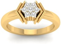 Jewels5 Hayi Yellow Gold Diamond Rhodium Plated 18 K Ring