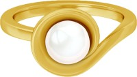 JacknJewel Gold Pearl Yellow Gold Plated 14 K Ring