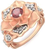 BlueStone Wild Rose Rose Gold Diamond, Ruby 18 K Ring
