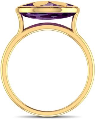 CaratLane Floral Amethyst Gold Amethyst Ring