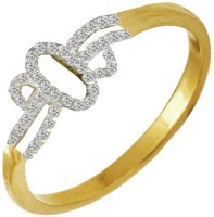 Beingwomen Elegant Gold Plated CZ Fashion Alloy Cubic Zirconia Yellow Gold Plated Ring