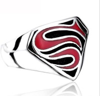 Cilver Fashion Superman Inspired Stainless Steel Ring
