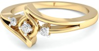 WearYourShine By PCJ The Aurela Diamond Gold Diamond 18K Yellow Gold 18 K Ring
